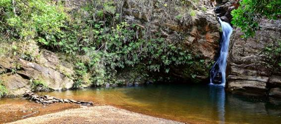 Cachoeiras na região de Itabirito